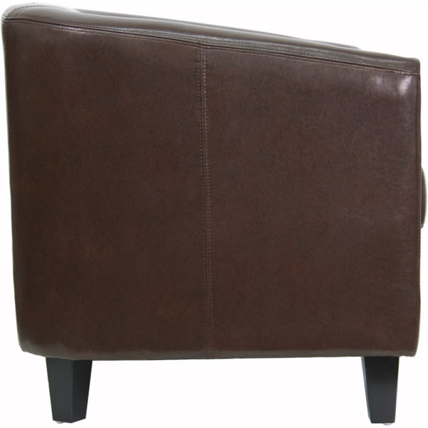 Lowest Price Brown Leather Lounge Chair