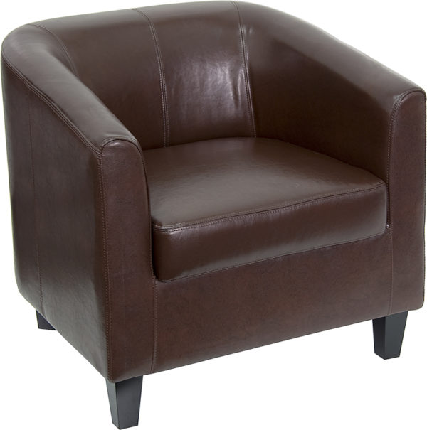 Wholesale Brown Leather Lounge Chair