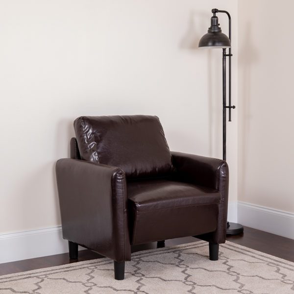 Lowest Price Candler Park Upholstered Chair in Brown Leather