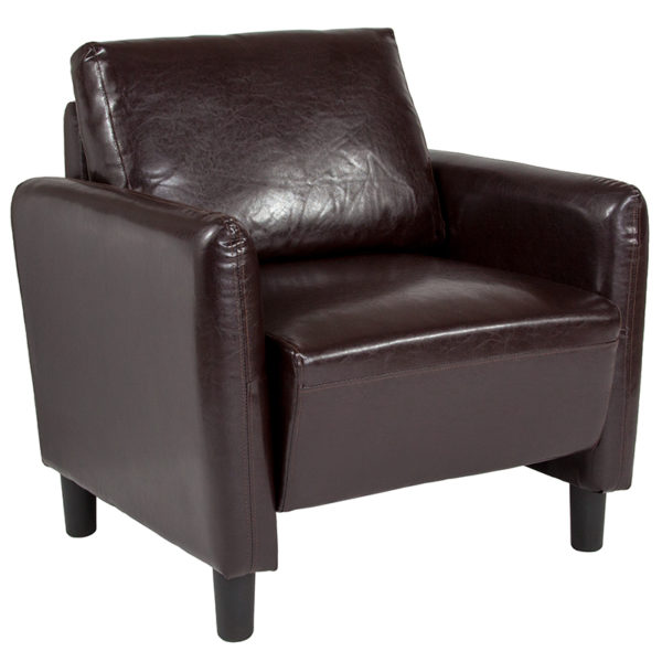 Wholesale Candler Park Upholstered Chair in Brown Leather