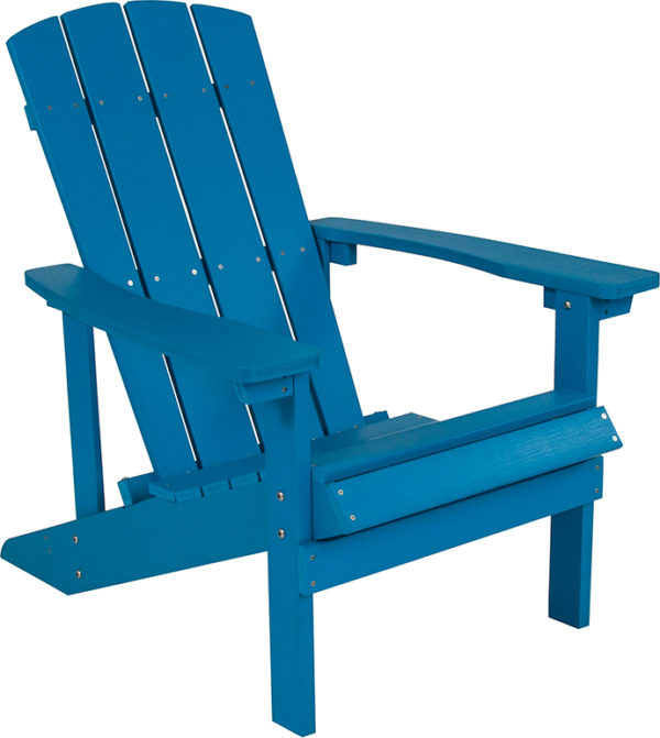 Lowest Price Charlestown All-Weather Adirondack Chair in Blue Faux Wood