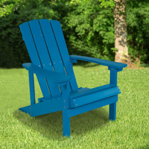 Wholesale Charlestown All-Weather Adirondack Chair in Blue Faux Wood