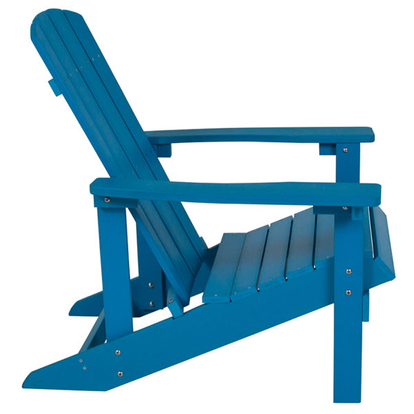 Adirondack Lounger Blue Wood Adirondack Chair