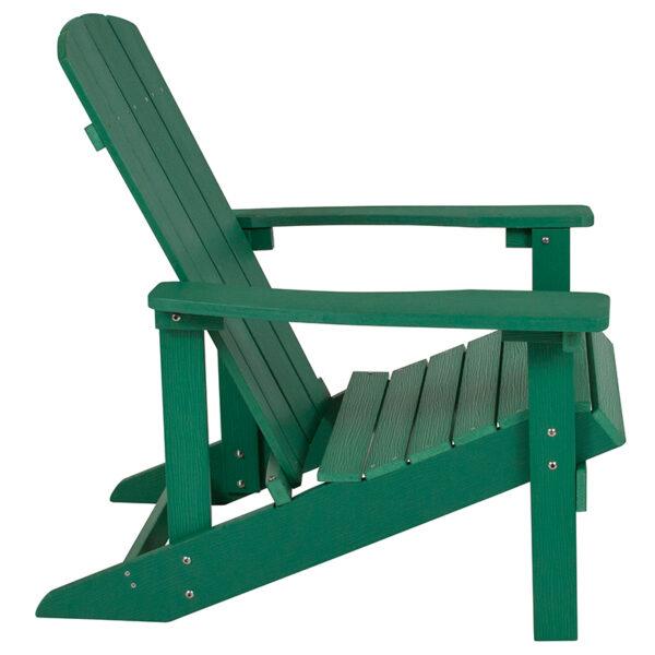 Adirondack Lounger Green Wood Adirondack Chair