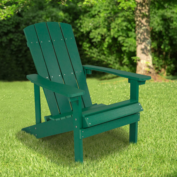 Wholesale Charlestown All-Weather Adirondack Chair in Green Faux Wood