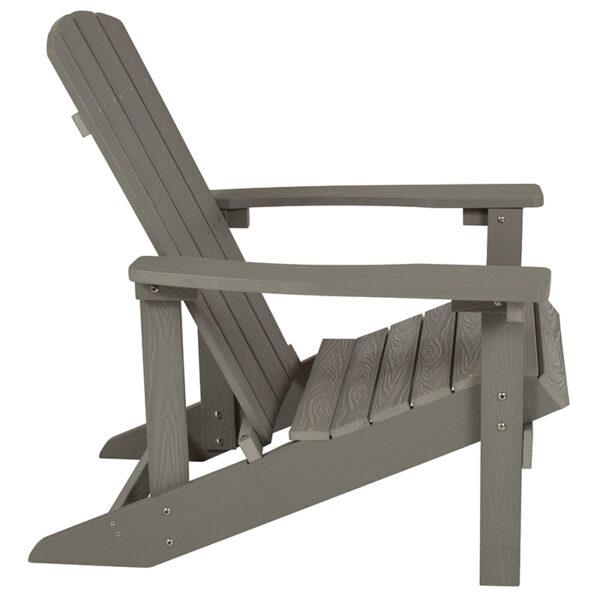 Adirondack Lounger Gray Wood Adirondack Chair