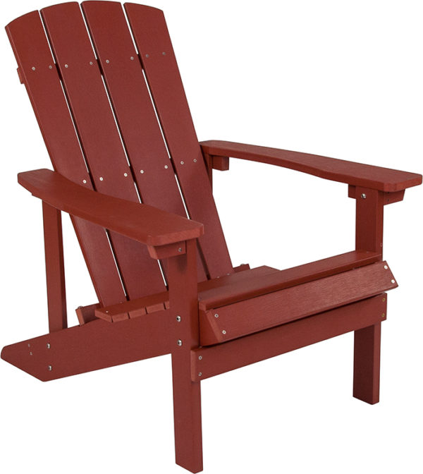 Lowest Price Charlestown All-Weather Adirondack Chair in Red Faux Wood