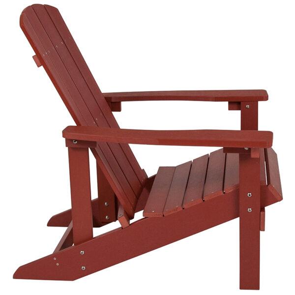 Adirondack Lounger Red Wood Adirondack Chair