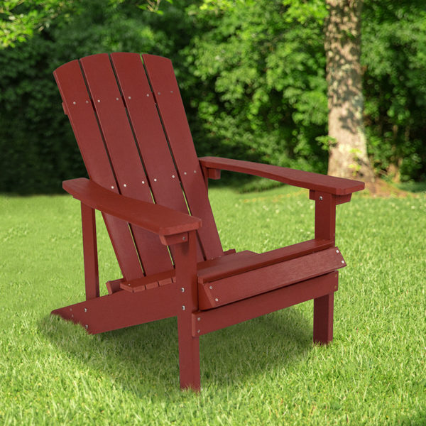 Wholesale Charlestown All-Weather Adirondack Chair in Red Faux Wood