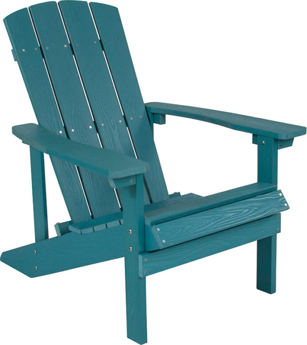 Lowest Price Charlestown All-Weather Adirondack Chair in Sea Foam Faux Wood