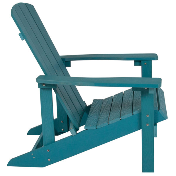 Adirondack Lounger Sea Foam Wood Adirondack Chair