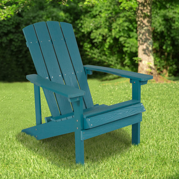 Wholesale Charlestown All-Weather Adirondack Chair in Sea Foam Faux Wood