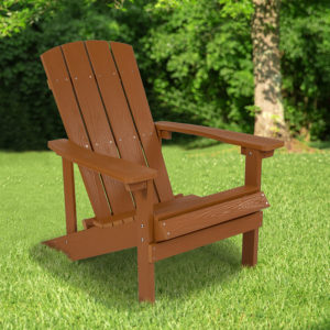 Wholesale Charlestown All-Weather Adirondack Chair in Teak Faux Wood