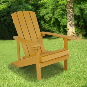 Wholesale Charlestown All-Weather Adirondack Chair in Yellow Faux Wood