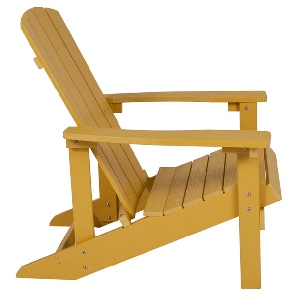 Adirondack Lounger Yellow Wood Adirondack Chair