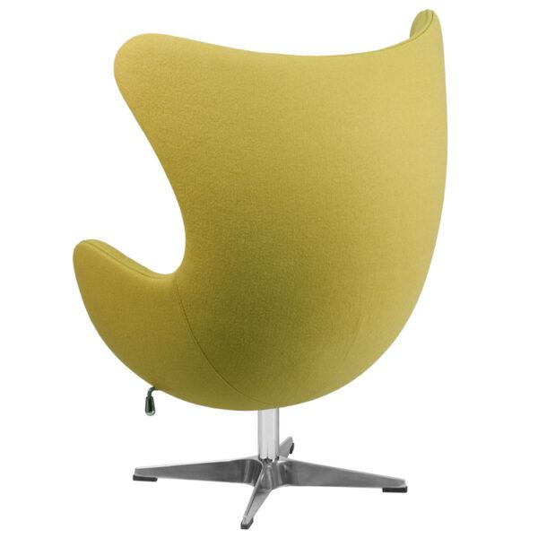 Lounge Chair Citron Wool Fabric Egg Chair