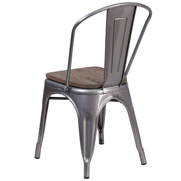 Stackable Bistro Style Chair Clear Metal Stack Chair