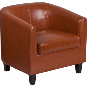Wholesale Cognac Leather Lounge Chair