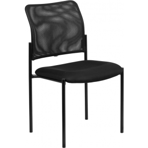Wholesale Comfort Black Mesh Stackable Steel Side Chair