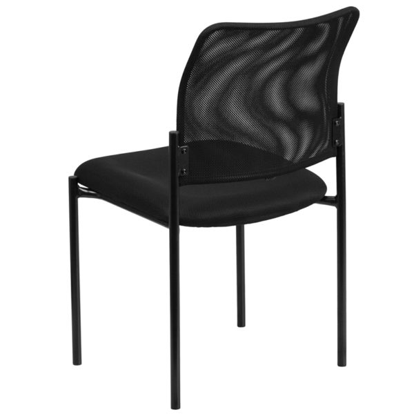 Contemporary Side Chair Black Mesh Side Chair