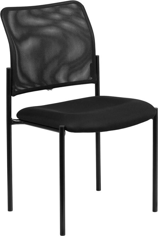 Wholesale Comfort Black Mesh Stackable Steel Side Chair