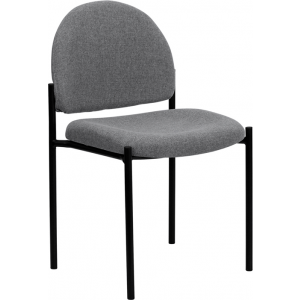 Wholesale Comfort Gray Fabric Stackable Steel Side Reception Chair