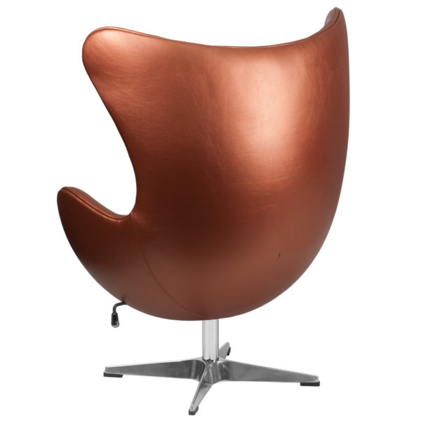 Lounge Chair Copper Leather Egg Chair