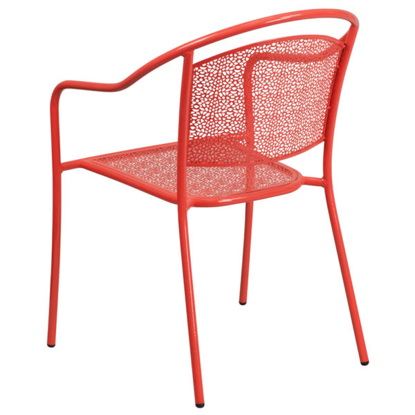 Stackable Patio Chair Coral Round Back Patio Chair
