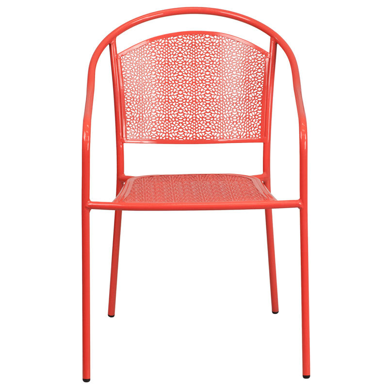 Indoor Outdoor Steel Patio Arm Chair