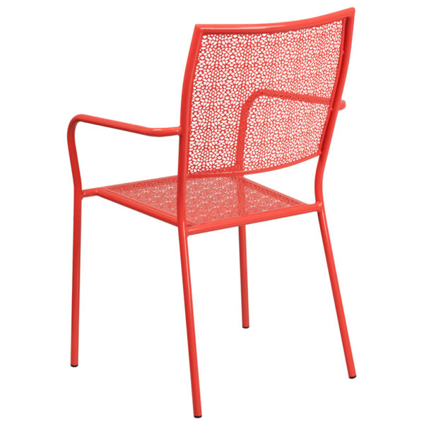 Outdoor Patio Chair Coral Square Back Patio Chair