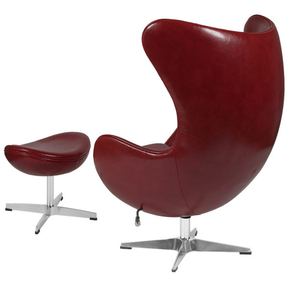 Chair and Ottoman Set Cordovan Leather Egg Chair/OTT