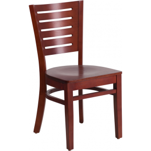 Wholesale Darby Series Slat Back Mahogany Wood Restaurant Chair
