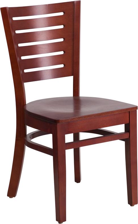 Wholesale Darby Series Slat Back Mahogany Wood Restaurant Chair