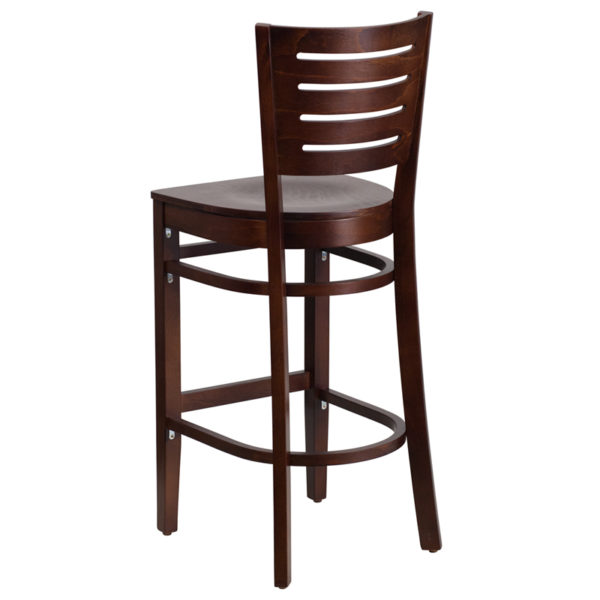Wood Dining Bar Stool Walnut Wood Stool