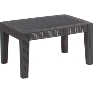 Wholesale Dark Gray Faux Rattan Coffee Table