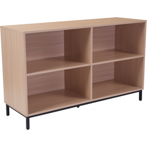 "Wholesale Dudley 4 Shelf 29.5""H Open Bookcase Storage in Oak Wood Grain Finish"