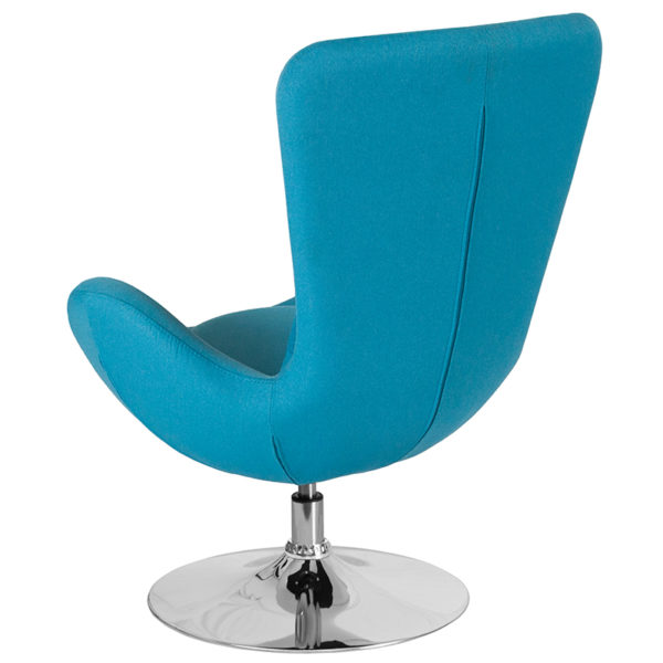 Lounge Chair Aqua Fabric Egg Series Chair