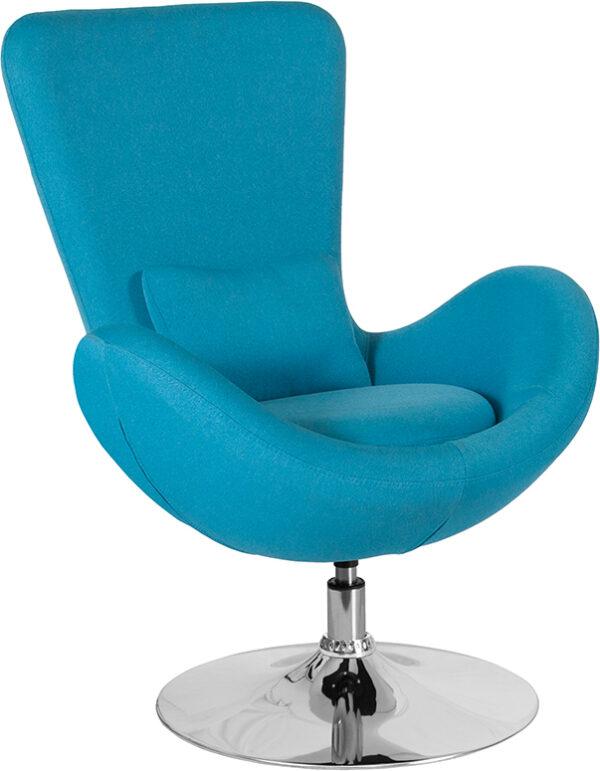 Wholesale Egg Series Aqua Fabric Side Reception Chair