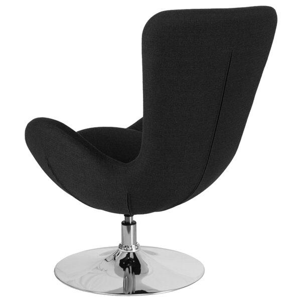 Lounge Chair Black Fabric Egg Series Chair