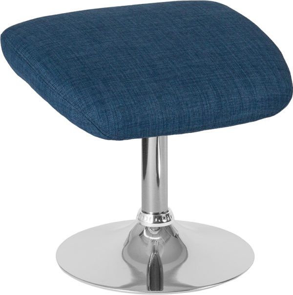 Wholesale Egg Series Blue Fabric Ottoman