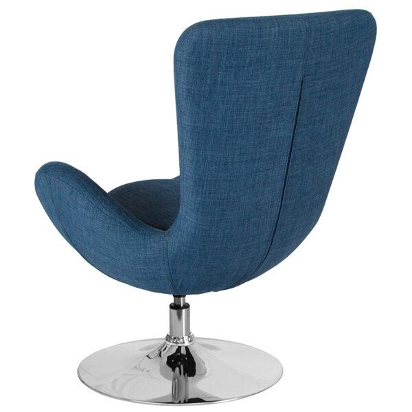 Lounge Chair Blue Fabric Egg Series Chair