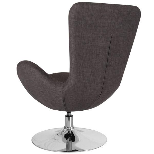 Lounge Chair Gray Fabric Egg Series Chair