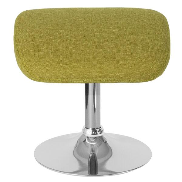 Contemporary Style Green Fabric Ottoman