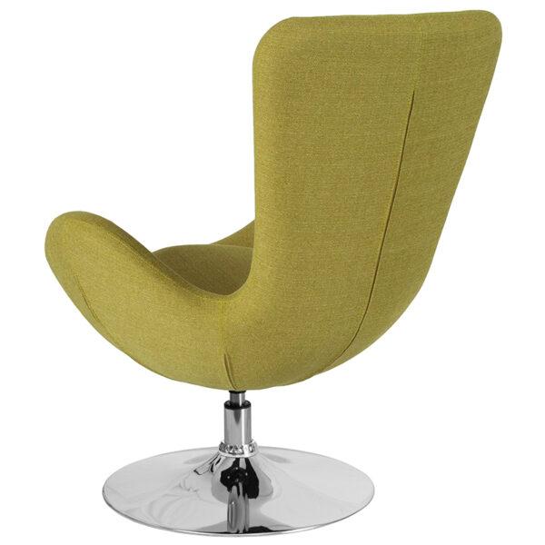 Lounge Chair Green Fabric Egg Series Chair
