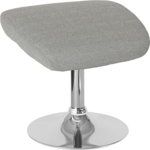 Wholesale Egg Series Light Gray Fabric Ottoman