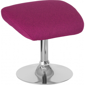 Wholesale Egg Series Magenta Fabric Ottoman