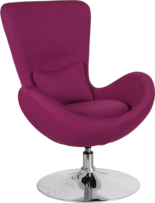 Wholesale Egg Series Magenta Fabric Side Reception Chair