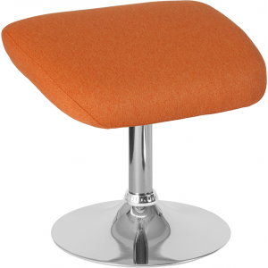 Wholesale Egg Series Orange Fabric Ottoman