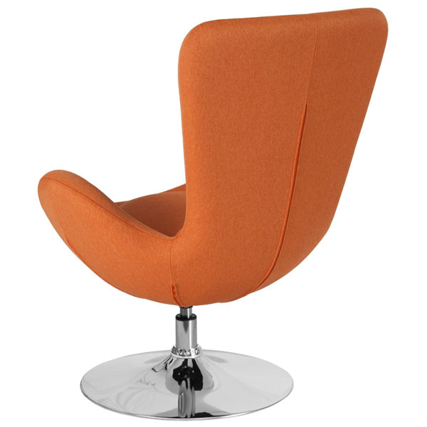 Lounge Chair Orange Fabric Egg Series Chair