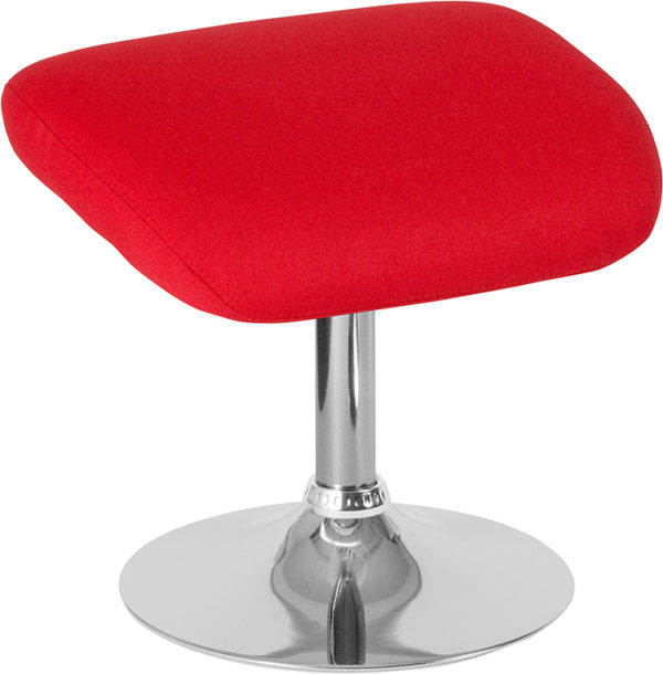 Wholesale Egg Series Red Fabric Ottoman